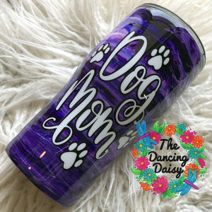 Dog Mom ink swirl 20 oz tumbler