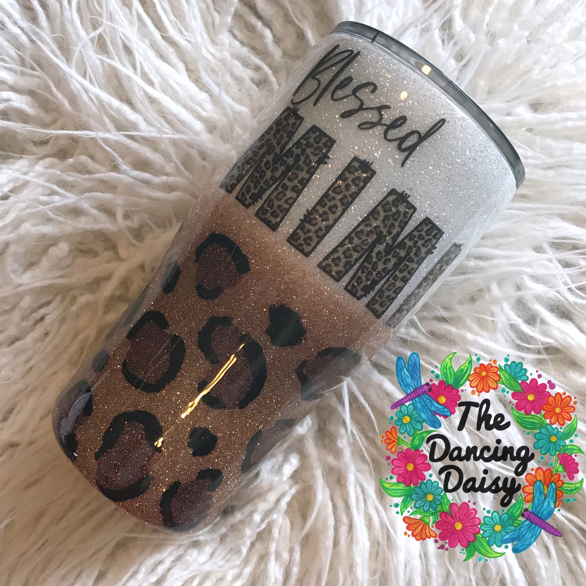 20 oz leopard design Blessed Mimi