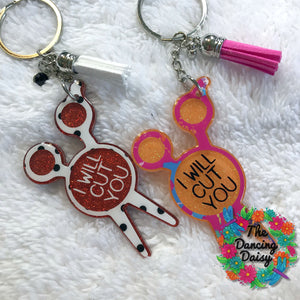 Scissors / Shears Hairdresser acrylic keychain
