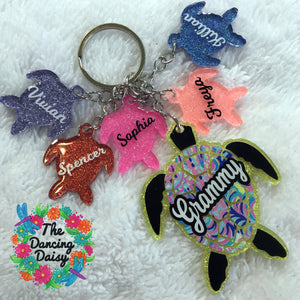Mama and baby keychain - animals vary - your choice (FIVE BABIES)