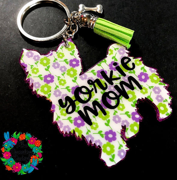 Yorkie / yorkshire terrier dog keychain