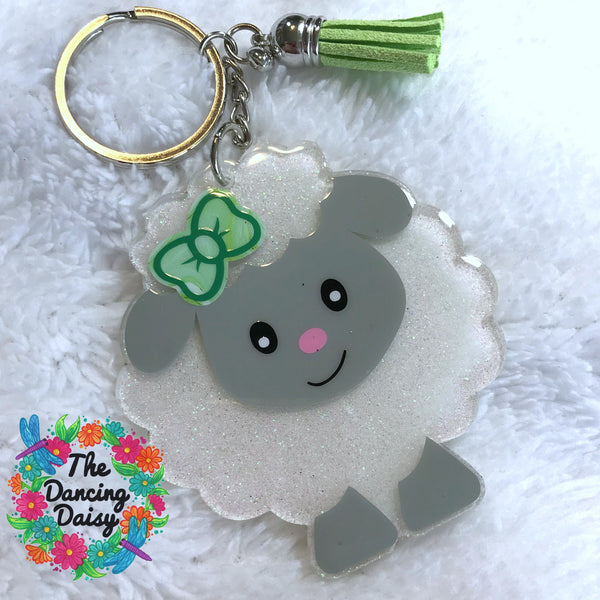 Lamb / Sheep baby keychain
