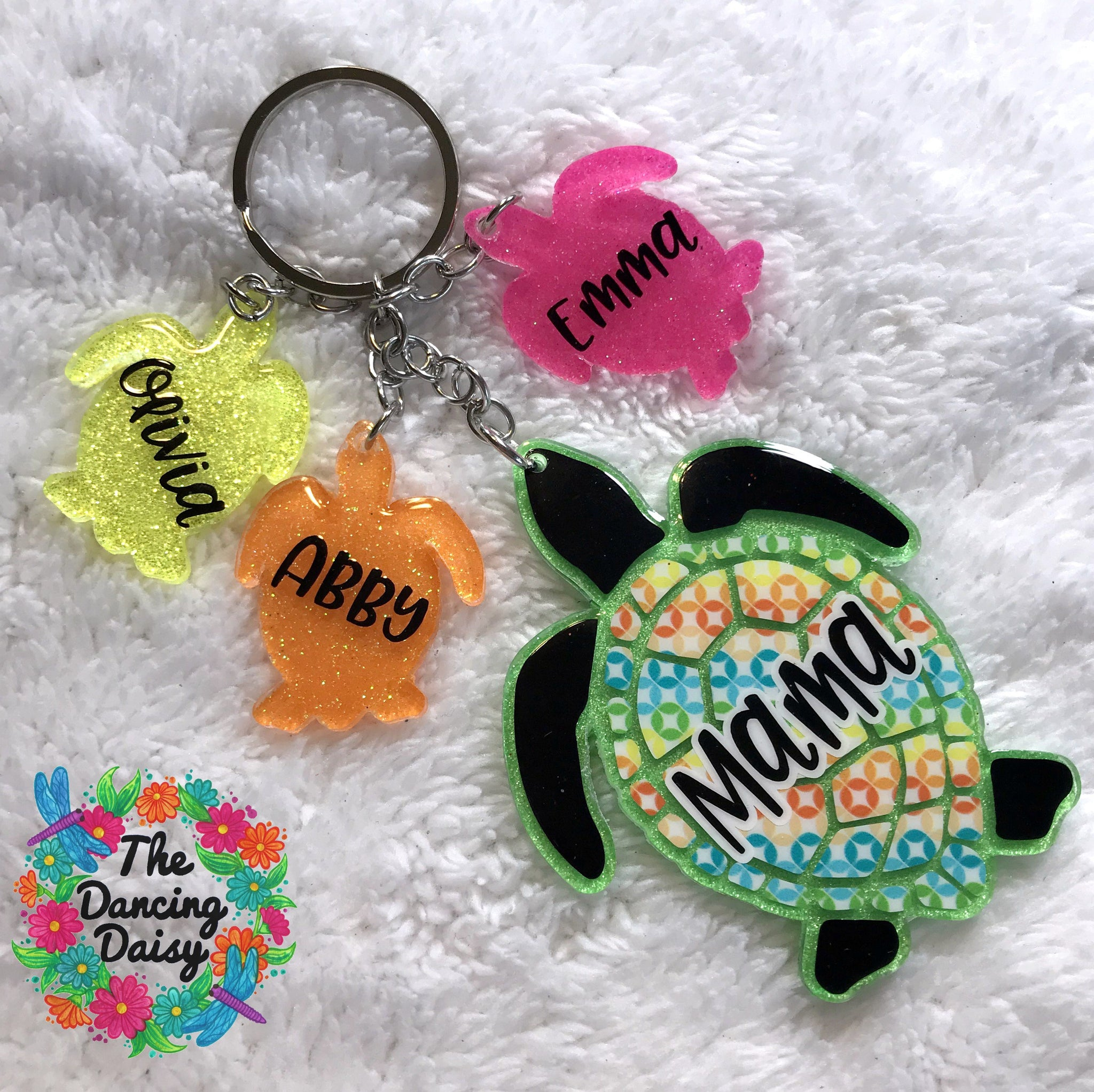 Mama and baby keychain - animals vary - your choice (THREE BABIES)