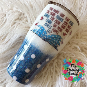 30 oz Seuss themed tumbler - Oh the Places You'll Go