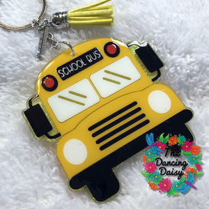 Front of School bus acrylic keychain - teacher gift