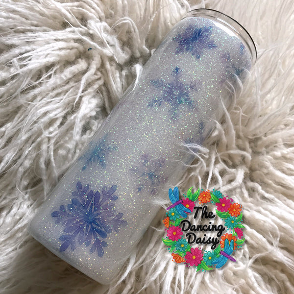 20 oz skinny snowflake tumbler - ready to ship