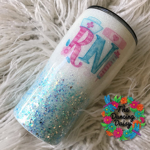20 oz Nurse / RN watercolor tumbler
