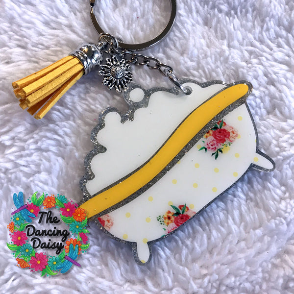 Bathtub Keychain