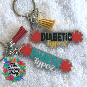 Diabetic keychains / bag tags