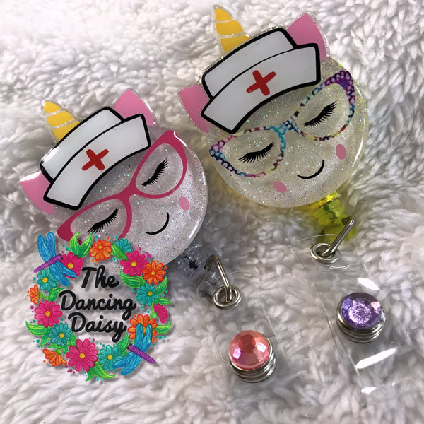 Unicorn Nurse Badge Reel