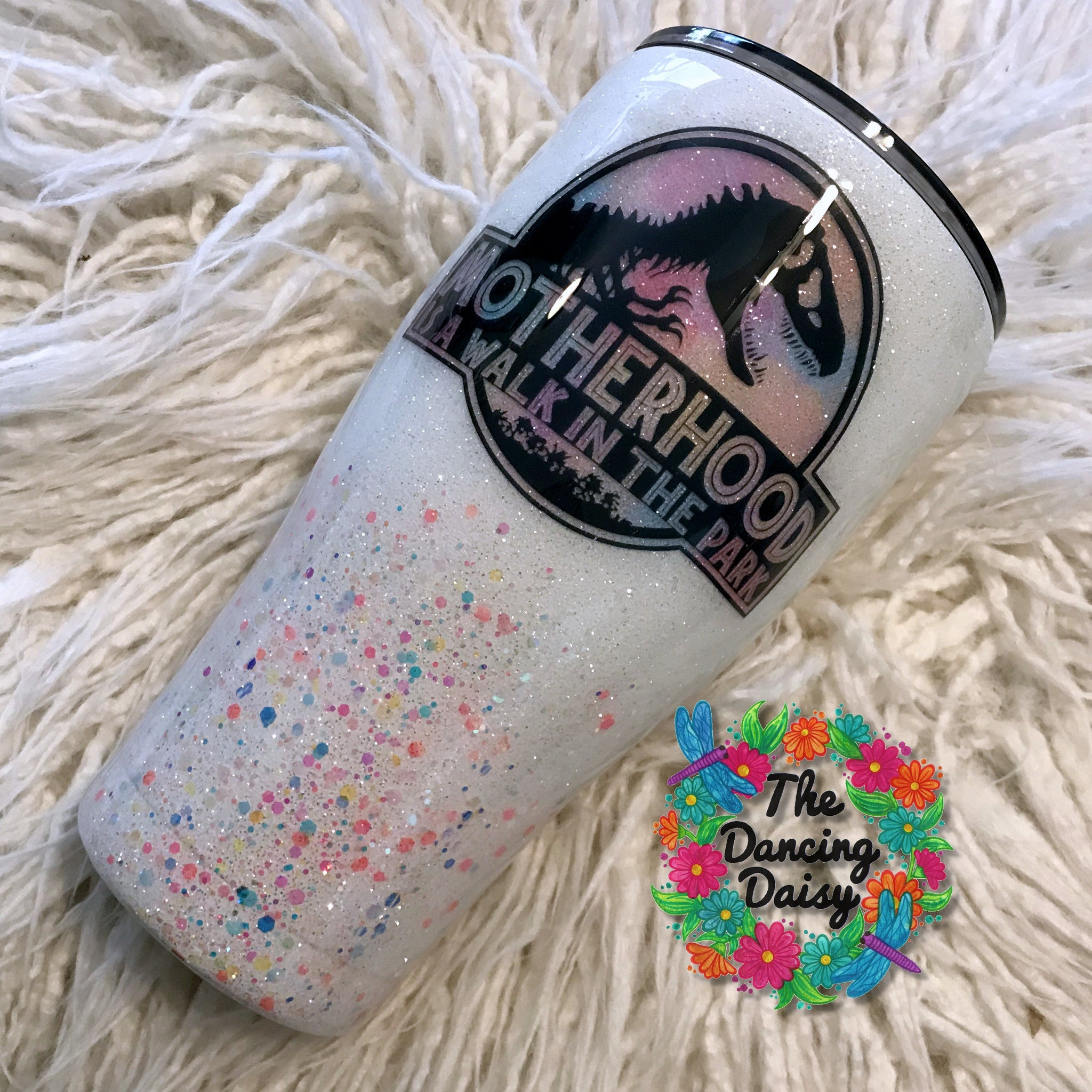 30 oz Motherhood is a Walk in the Park tumbler