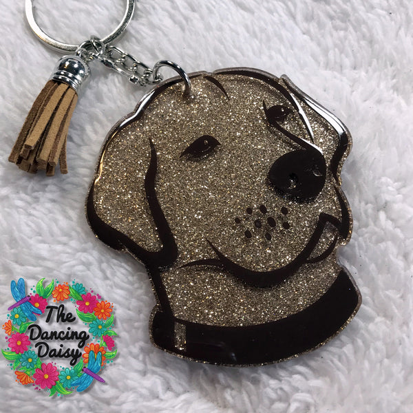 Labrador / Lab face dog keychain