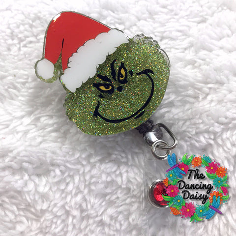 Grinch Badge Reel