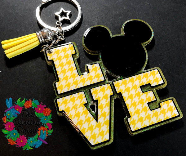 LOVE Mickey head keychain