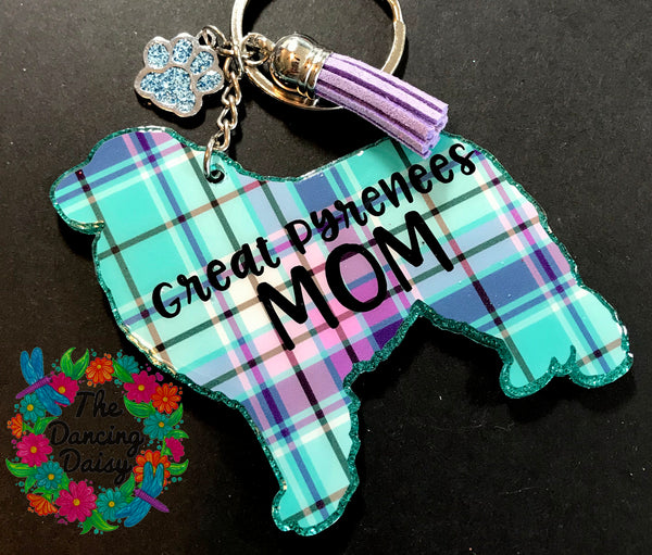 Great Pyrenees - dog acrylic keychain