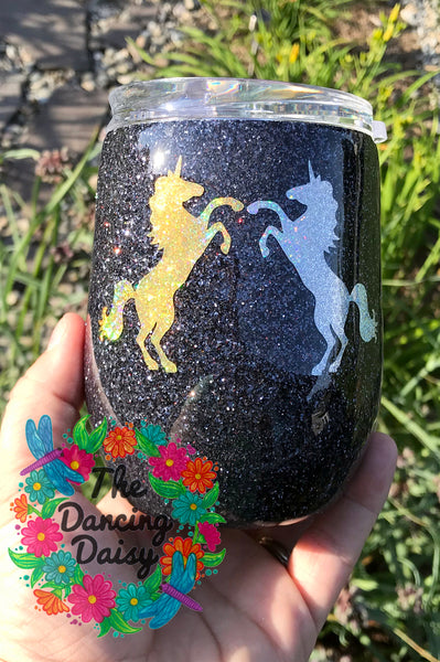 Our Friendship - Unicorn 12 oz wine tumbler