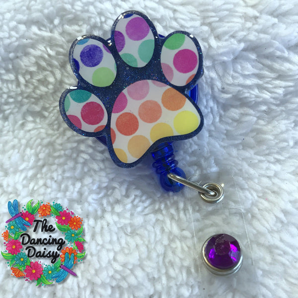 Paw Print Badge Reel