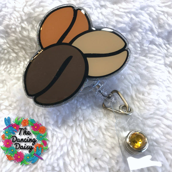 Coffee Beans Badge Reel