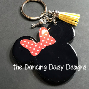 Girl Mouse Ears keychain