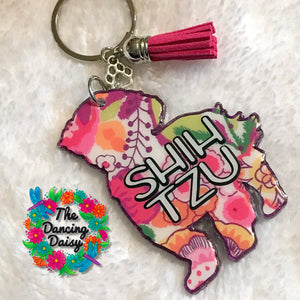 Shih tzu dog keychain - version 2