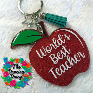 Apple acrylic keychain - teacher gift