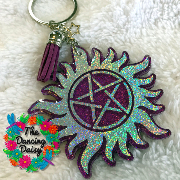 Supernatural Demon Ward acrylic keychain