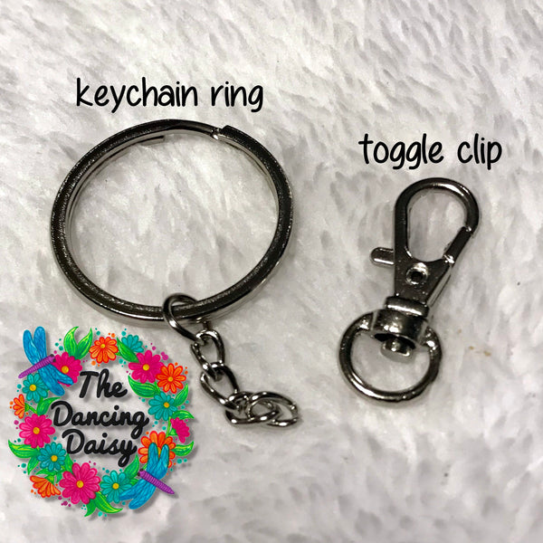 Allergy keychains / bag tags