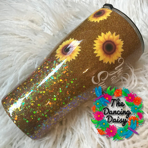 30 oz Sunflower tumbler - You are my Sunshine