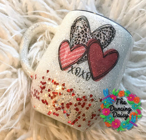 12 oz mug - HEARTS - ready to ship