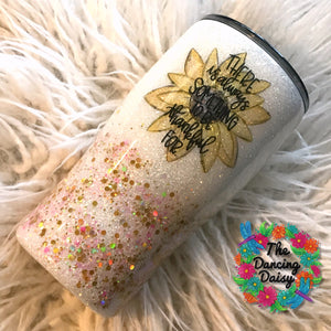 20 oz There is always something to be thankful for - sunflower tumbler