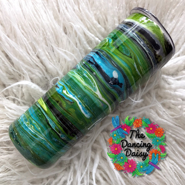 20 oz skinny ink swirl Mamasaurus Rex tumbler - ready to ship
