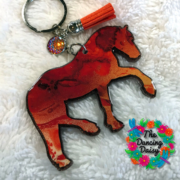 Standing Horse acrylic keychain