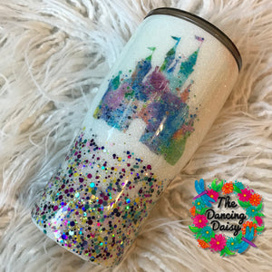20 oz watercolor Castle tumbler