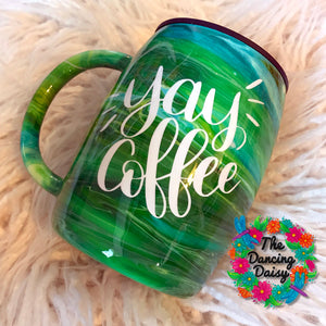 Yay Coffee - 14 oz traditional mug - ready to ship