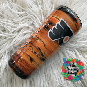 Philadelphia Flyers 22 oz double walled tumbler - ink swirls