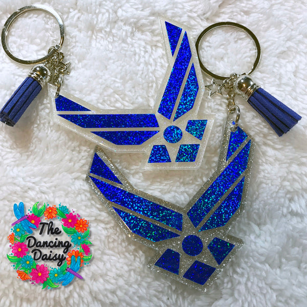 Air Force Wings acrylic keychain