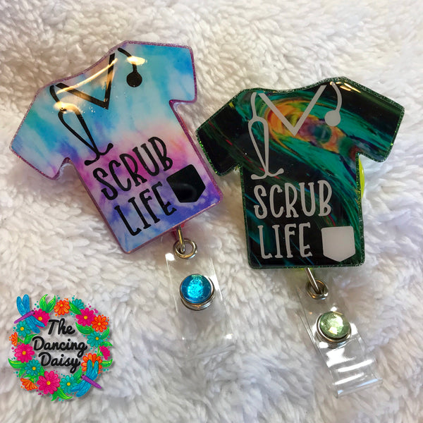 Medical Scrub top Badge Reel