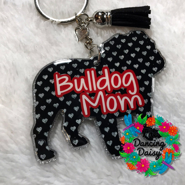 English Bulldog -dog acrylic keychain