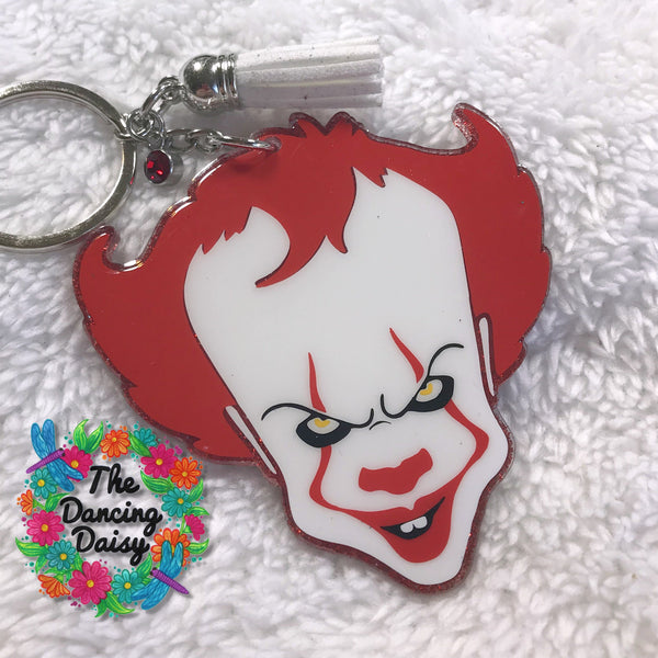 Pennywise IT Stephen King themed - Halloween movie keychain
