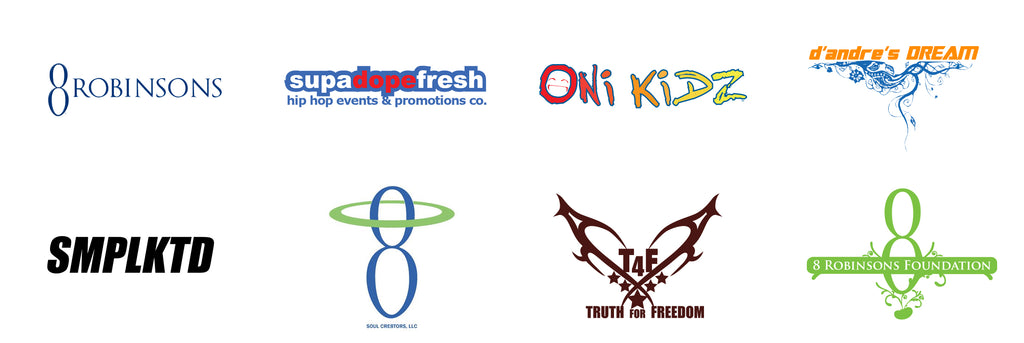 8 Robinsons Brands, supadopefresh, onikidz, dandres dream, smplktd, soul cre8tors, truth for freedom, 8 robinsons foundation