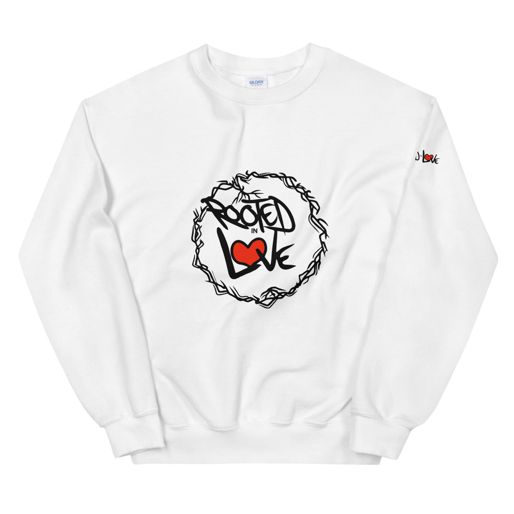 The Rooted in Love Show Unisex Sweatshirt (Dark print)
