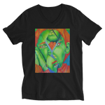 """Lime"" Unisex  V-Neck T-Shirt"