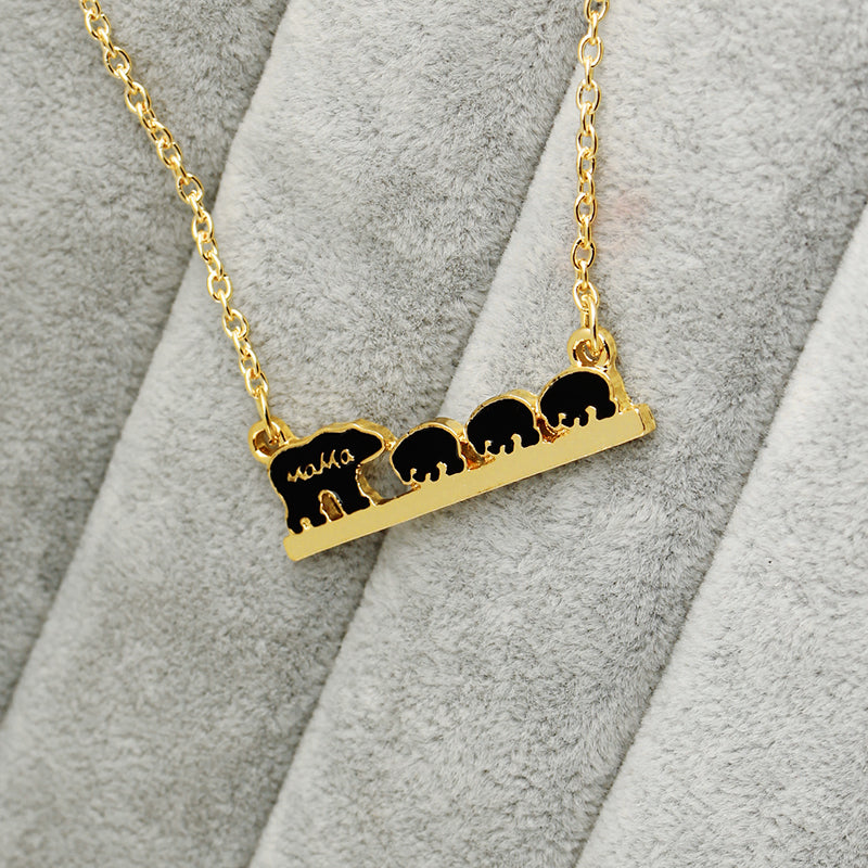 baby product necklace mama bear pistachio necklaces marketplace image bears products
