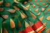 Emerald Green Kota Silk Designer Saree with Gold Drops