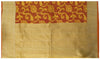 Orange Banarasi Organza Handloom Saree