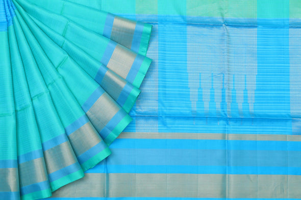 Shades Of Harmony Kanchipuram Soft Silk Saree In Green