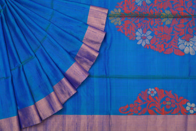 Simply Charming Kanchipuram Soft Silk Saree In Blue