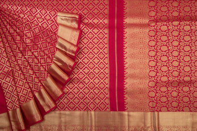 Red Handloom Kanchipuram Silk Saree
