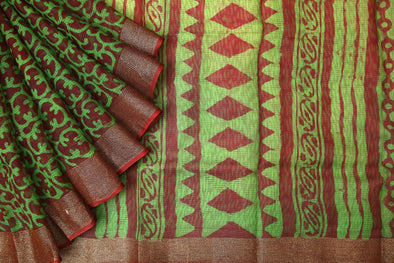 Online shop for Green Handloom Kota Silk Saree
