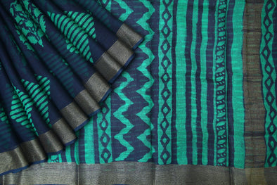 Online shopping for Blue Handloom Kota Silk Saree
